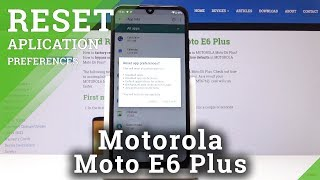 How To Restore App Preferences in Motorola Moto E6 Plus - Reset Applications