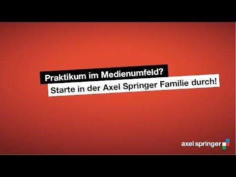 Das Praktikantenprogramm bei Axel Springer