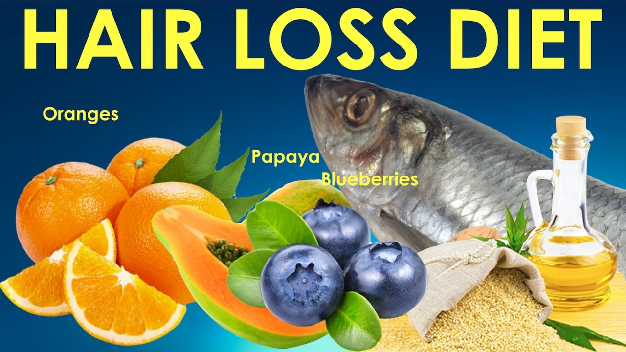Nutrition and diet for hair loss in women