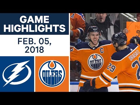 NHL Game Highlights | Lightning vs. Oilers - Feb. 5, 2018