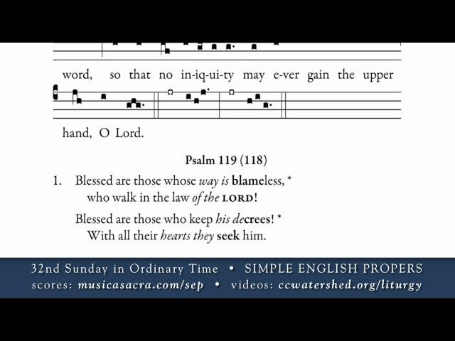 Music Resources for 32nd Sunday in Ordinary Time A – St Mary