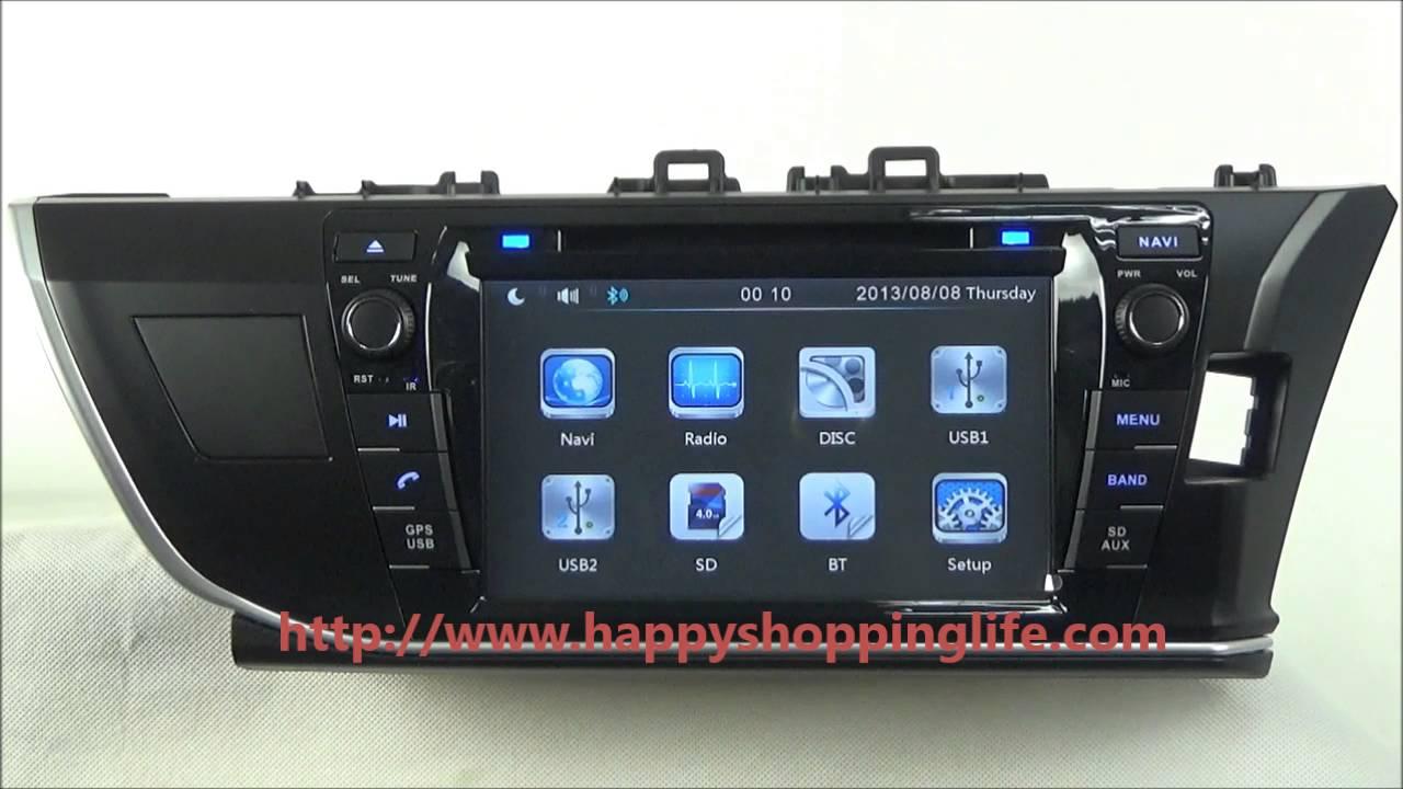Toyota Corolla Rhd 2014 2015 Car Dvd Player Gps Navigation