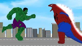 Hulk VS All Superheroes Transformations Of Spider Godzilla [HD]   Godzilla SuperHero Animation