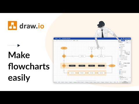 Make Flowcharts Quickly And Easily With Draw Io Youtube