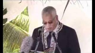 Niue Flag Raising 2010 Part 7: Speech Acting Premier