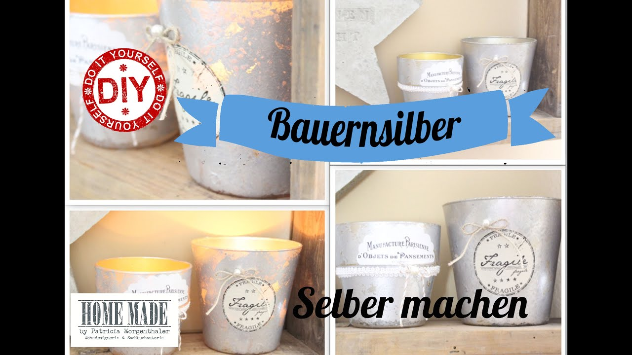 How to i shabby chic windlichter i matter bauernsilberlook for Deko vintage shabby chic
