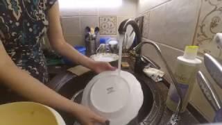 мытье посуды салфеткой Green way