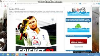 how to download and install cricket 07 on pc.