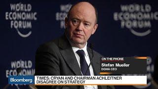 DGWA Says Axel Weber Should Replace Cryan at Deutsche Bank