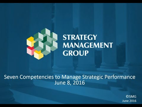 Seven Competencies to Manage Strategic Performance