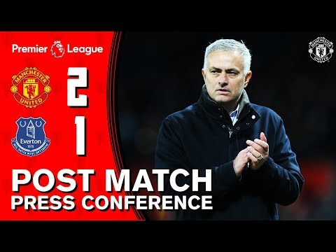 Jose Mourinho's Post Match Press Conference | Manchester United 2-1 Everton | Premier League