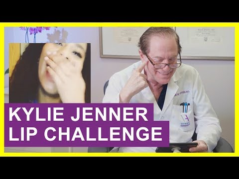 Cosmetic Surgeon Reacts to Kylie Jenner Lip Challenge