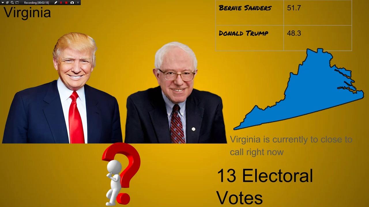 election night  donald trump  bernie sanders youtube