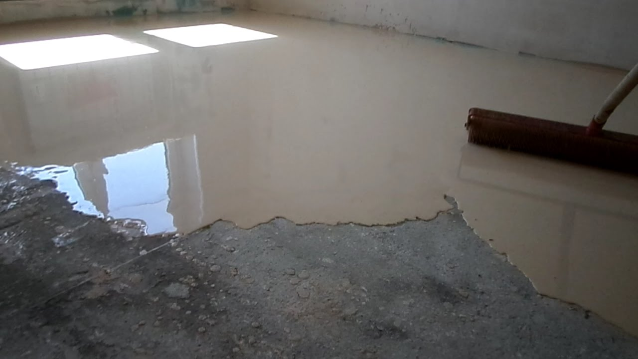 На стяжку наливной пол видео гидроизоляция в г.пермь