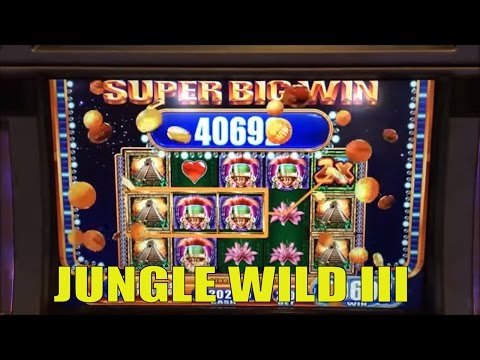 ★SUPER BIG WIN★☆JUNGLE WILD III Slot machine (WMS)☆GREAT WIN ! Live play & Bonus /$2.50 MAX BET