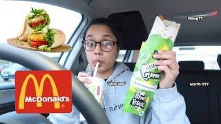 i tried out mcdonalds new vegan wrap   clickfortaz
