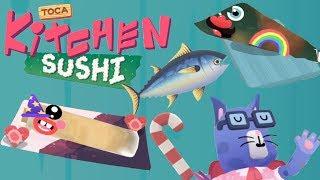 Toca kitchen sushi   Squid Wrapus!?