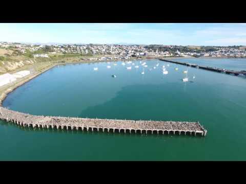 oamaru harbour phantom4 new zealand 2017