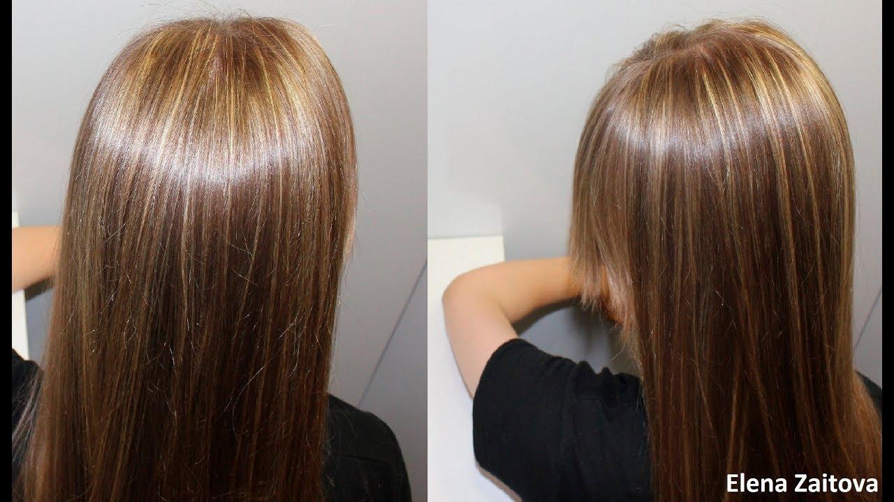 Как на длинные волосы сделать мелирование