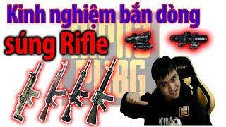 Chia sẻ kinh nghiệm bắn dòng súng Rifle PUBG (How to shoot Rifle gun with scope 4x + 8x PUBG)