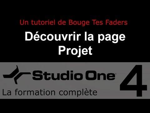 Formation Studio One 4 - C03: Découvrir la page Projet