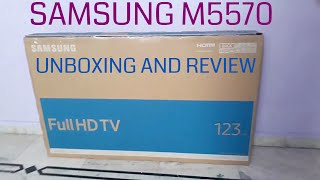 Samsung M5570 Smart tv Unboxing and Quick review | Whats inside box? | samsung smart tv 2017 49inch