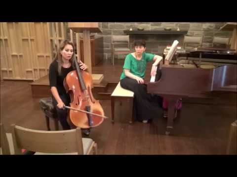Allison Eldredge speaks at the Violin Audition Prep Program