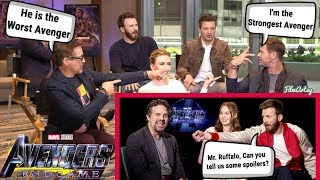 Avengers: Endgame Cast Roasts Each Other | Try Not To Laugh 2019