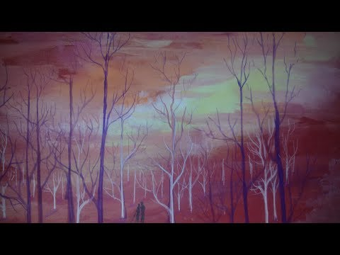 mysterious landscape painting demo with watercolour easy step