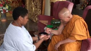 Budhist Monk Blessing