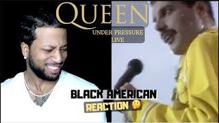 FIRST TIME HEARING Queen - Under pressure (Live at Wembley) BLACK AMERICAN REACTION!!