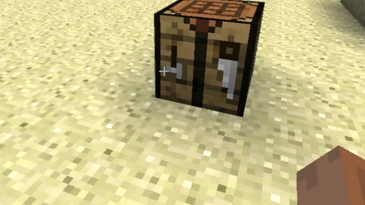 Minecraft Tutorial: How to make Wooden Pickaxe - YouTube
