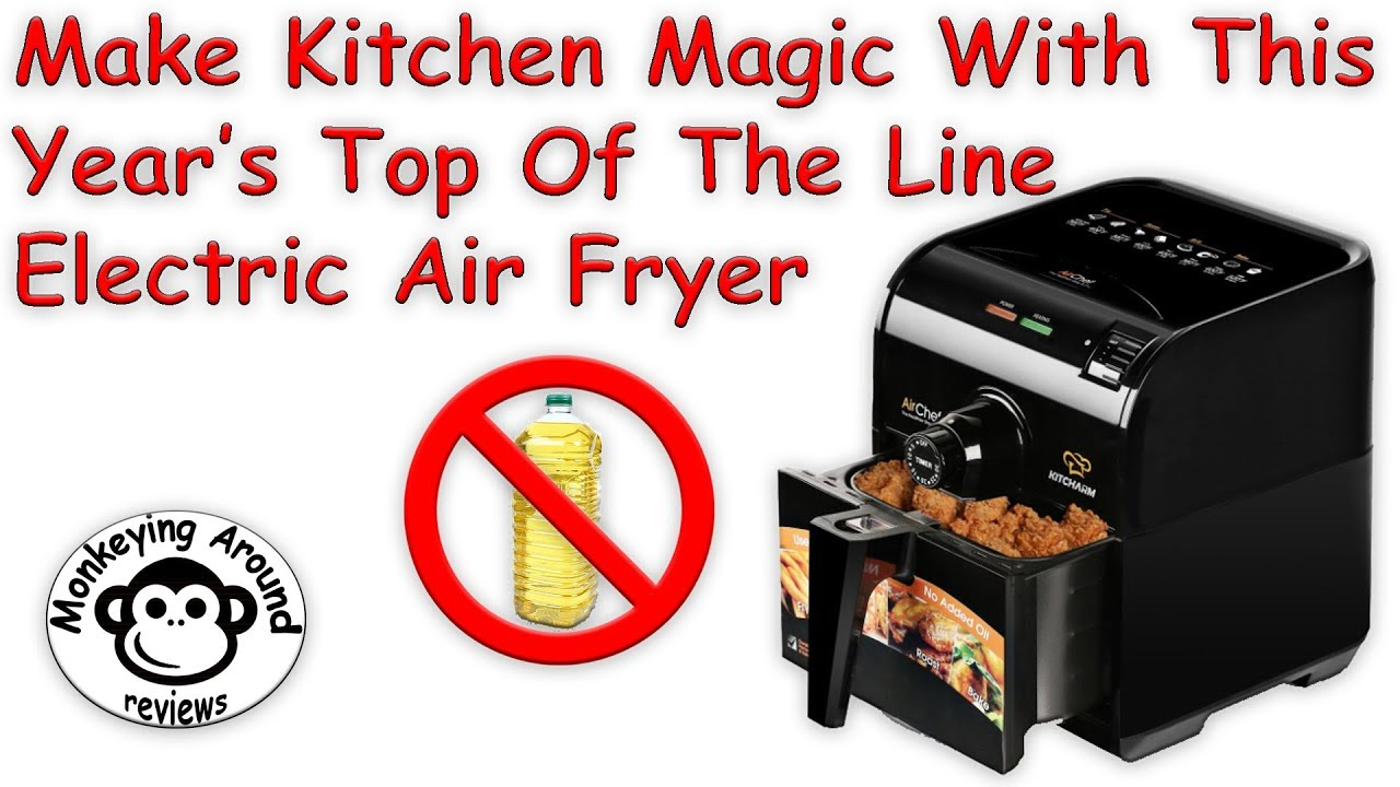 KITCHARM Air Fryer Low Fat Oil Free Healthy and Multi function Electric Air Coo