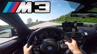 BMW M3 F80 pushing on German Autobahn✔