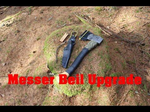 Axt / Messer Mit Paracord, Rangerband Und Kydex Gepimpt