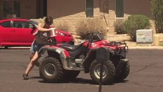 Our crazy redneck neighbor rides atv drunk