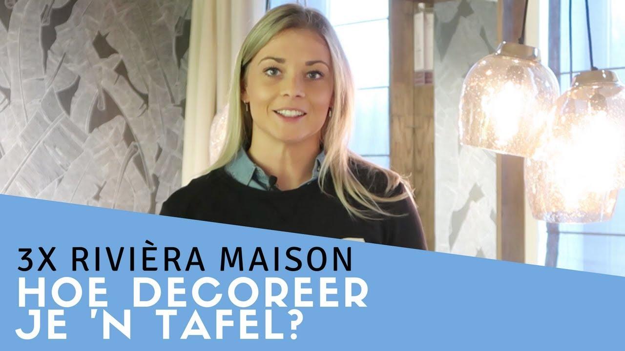 Eetkamer Tafel Riviera Maison.Hoe Decoreer Je De Eettafel 3x Riviera Maison Furnlovers Youtube