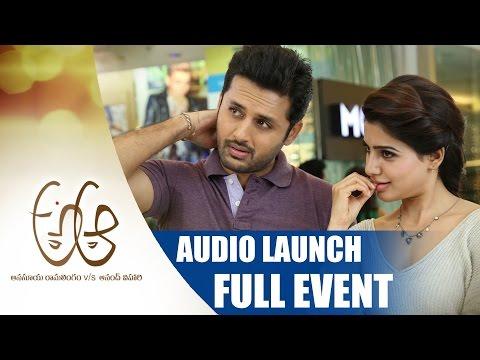 a-aa-telugu-movie-audio-launch-full-event-||-nithin-||-samantha-||-trivikram-||-mickey-j-meyer