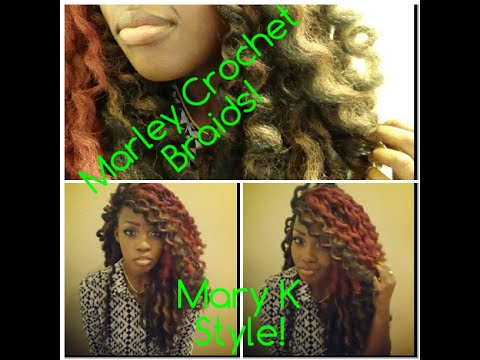 How To Pre-Dipped & Curled Marley Crochet Braids! - YouTube