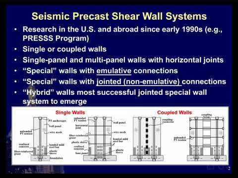 Seismic Design Guidelines for Solid and Perforated Hybrid Precast Concrete Shear Walls