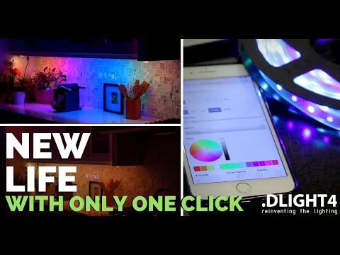 LED STRIP control by Amazon ECHO DOT, GOOGLE VOICE, IFTTT, CRESTRON, RTI or PHONES by .DLIGHT4 LED
