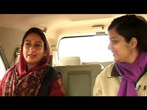 On the campaign trail with Harsimrat Kaur Badal