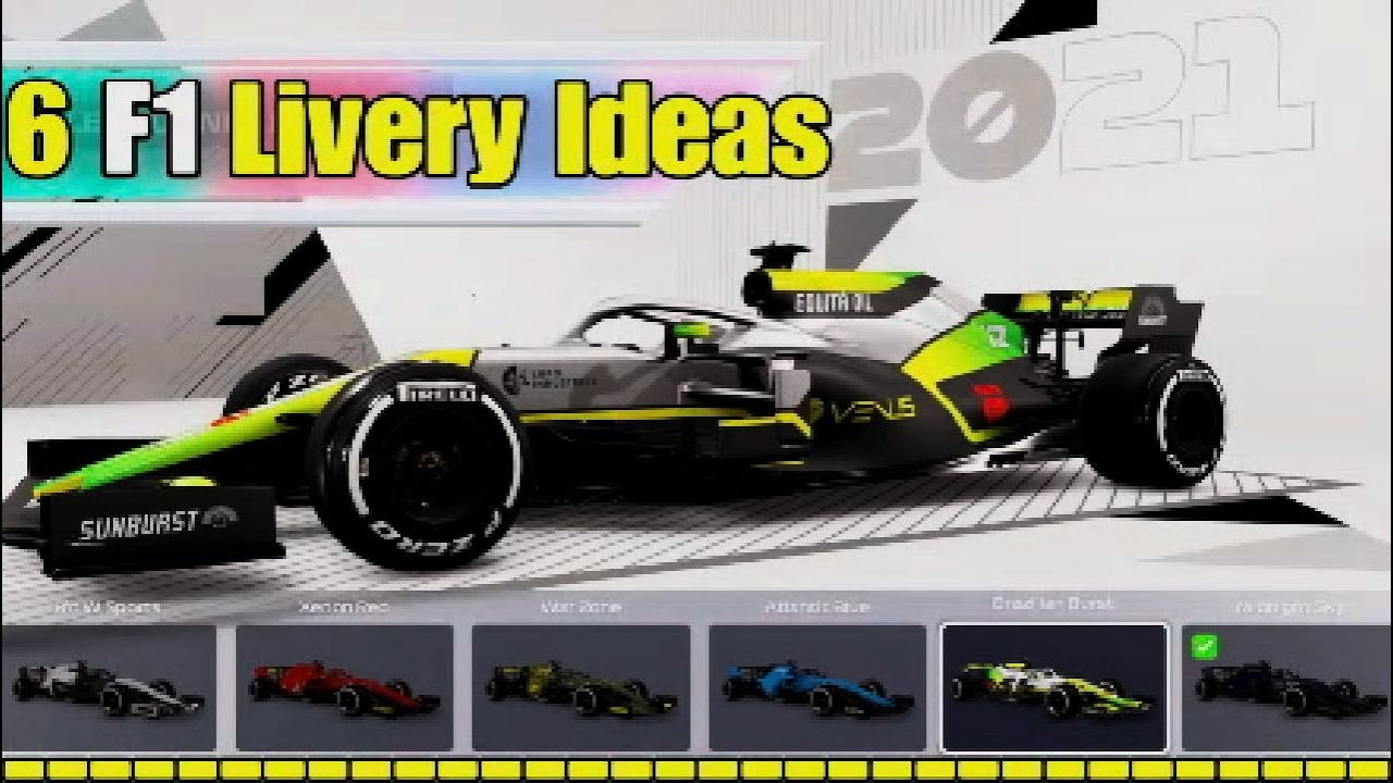 Download 6 Original F1 2021 Livery Ideas - for MyTeam or Multiplayer (part 1)
