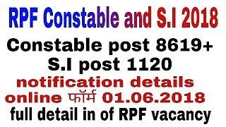 RPF-9730 vacancy 2018 || RPF Recruitment 2018 Official Notification  eligibility, syllabus exam