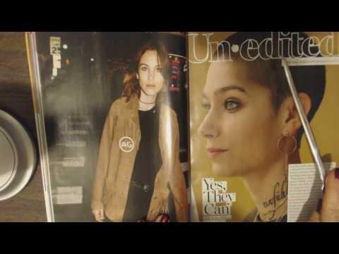 ASMR Whisper ~ Reading a Fashion Magazine With Pointer