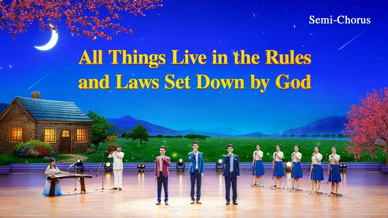 Christian Worship Song - All Things Live in the Rules and Laws Set Down by God