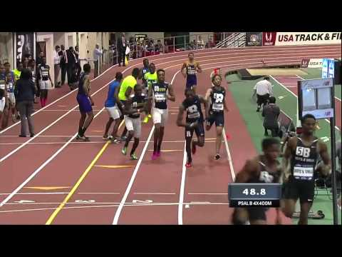 PSAL High School Boys 4x400m Relay   NYRR Millrose Games 2015