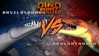 Dinosaurs Monster Basilosaurus VS Prognathodon