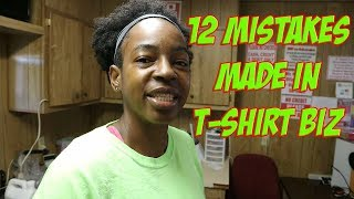 12 Mistakes That New T-shirt Printers Make