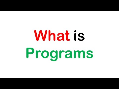 What is computer Programs?